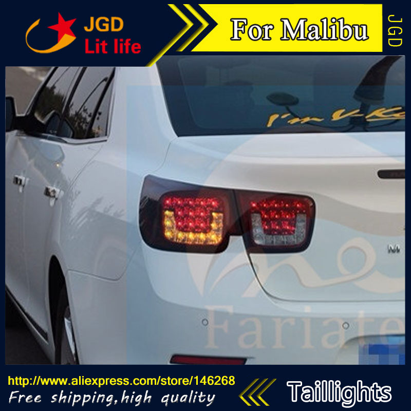 Car Styling tail lights for Chevrolet Malibu taillights LED Tail Lamp rear trunk lamp cover drl+signal+brake+reverse