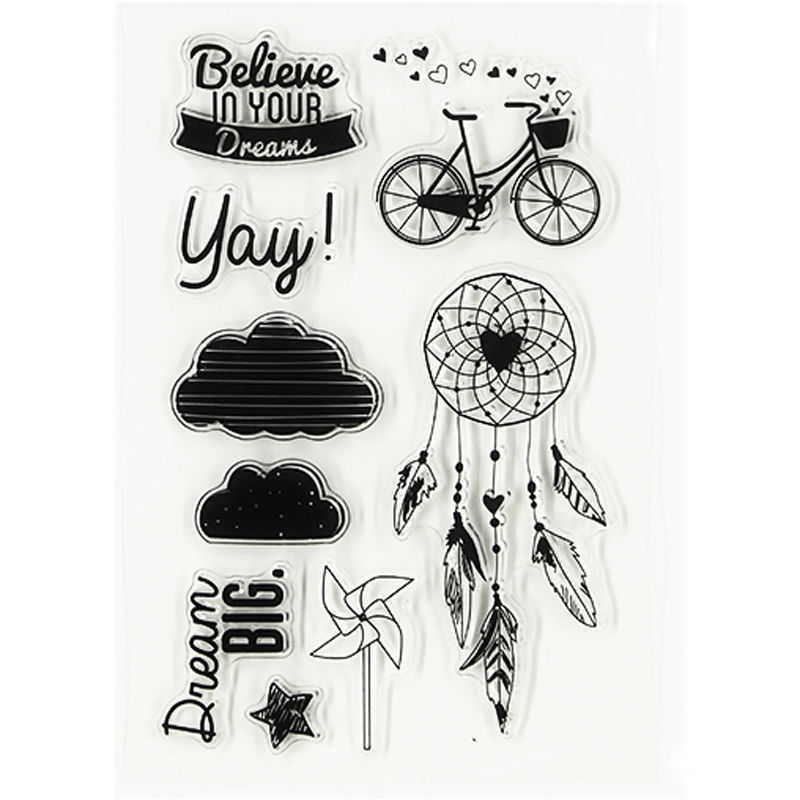 bicycle design DIY Transparent Clear Rubber Stamp Seal Paper Craft Photo Album Diary Scrapbooking paper Card TM-012 lovely bear and star design clear transparent stamp rubber stamp for diy scrapbooking paper card photo album decor rz 037