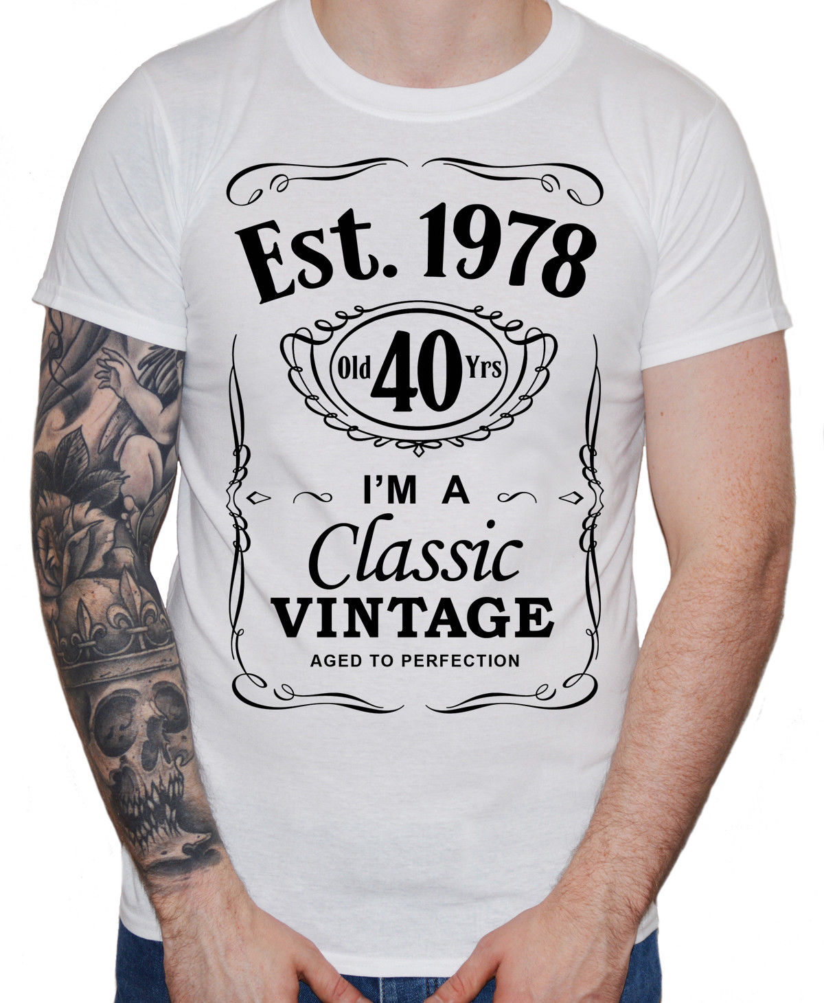 Vintage 40 Years Old T Shirt 40th Birthday Present