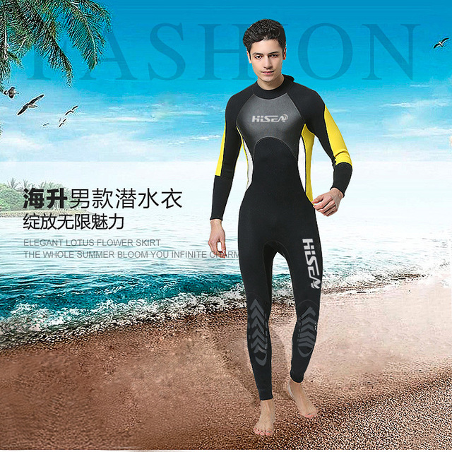 Hisea Men s Full Body Wetsuit 3mm Neoprene Wet Suits Sports Skins - Diving 07ac15986