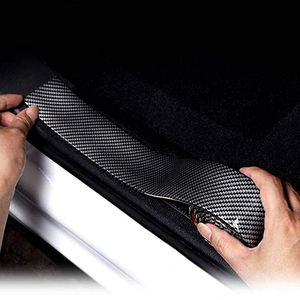 Image 1 - Universal Door Guard Bumper Rubber Protector Front Rear Door Entry Sill Guard Scuff Plate For Most Cars 100% Waterproof DB006