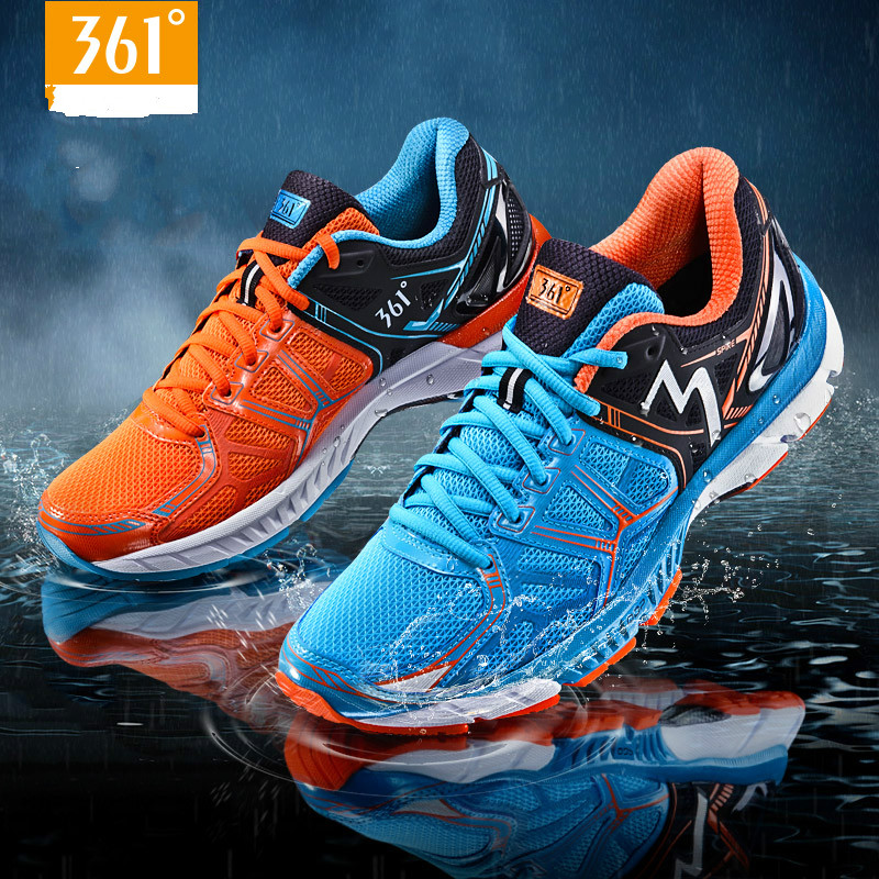 361 Men's Spire Light Weight Breathable Cushion Mens Running Shoes Professional Marathons Sport Sneakers