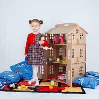 Casa de muñecas casa para juguetes mejor regalo para niña Casa de juguete muñecas casa de muñecas muñeca accesorio bloque parte rompecabezas acción 000-311
