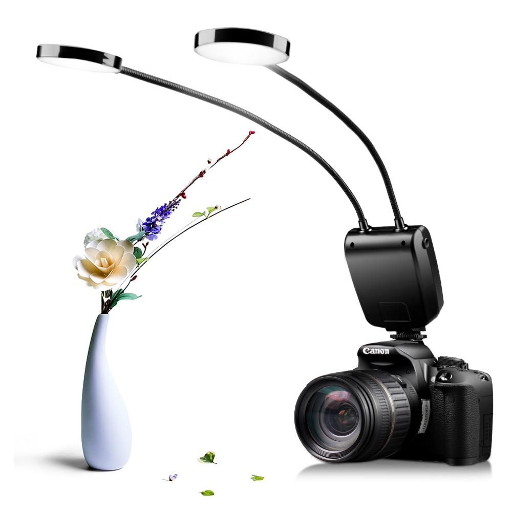 Image 2 - Travor ML 2D Flash Ring LED Macro Flash Speedlite Metal Hose Arbitrary LCD Display For Canon Nikon Panasonic Olympus MI SonyMacro & Ring Lights   -