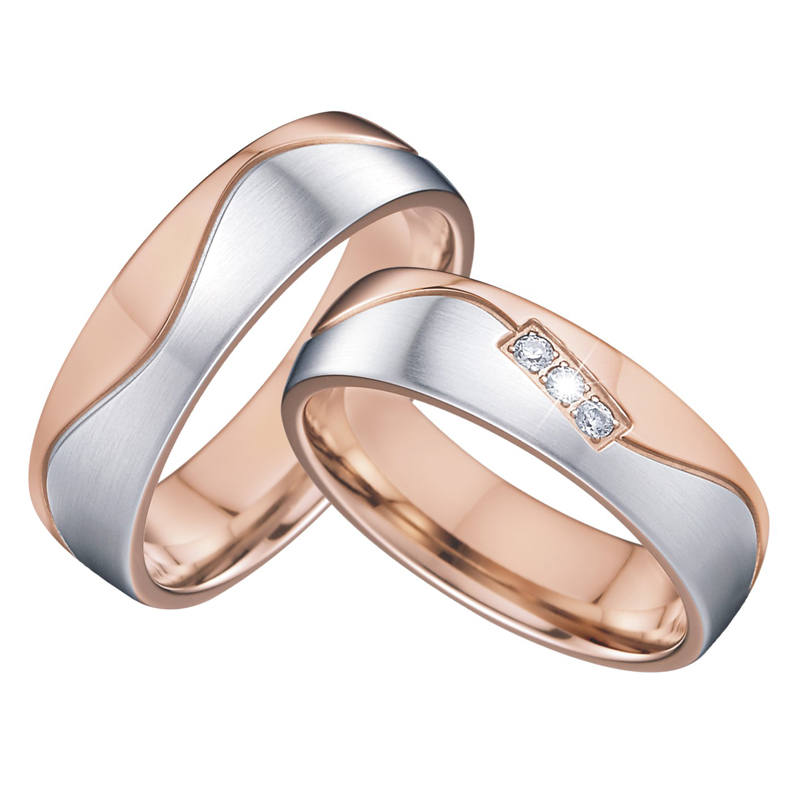 vintage wedding band men's ring women's ring elegance alliance bague anel anillos rose gold color promise couple rings pair цена