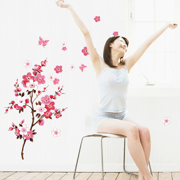 Beautiful Cherry Blossoms Wall Sticker For Living or Bed Room 27