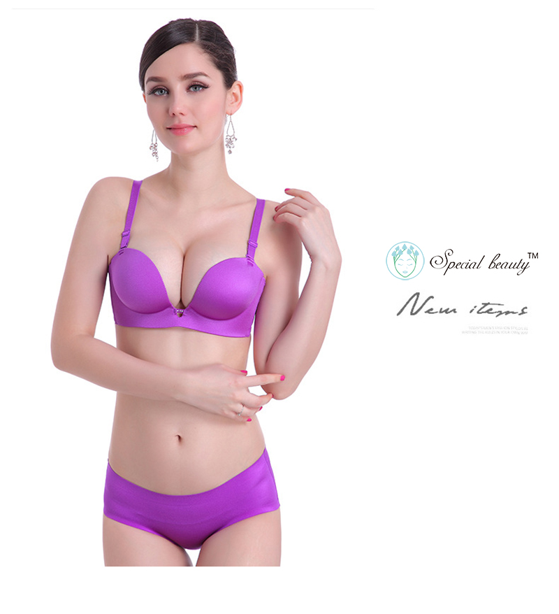 Special Beauty!Free shipping!Violet color Super low price Underwire Push Up top selling product in 2018One-Piece Sexy 1/2cup bra