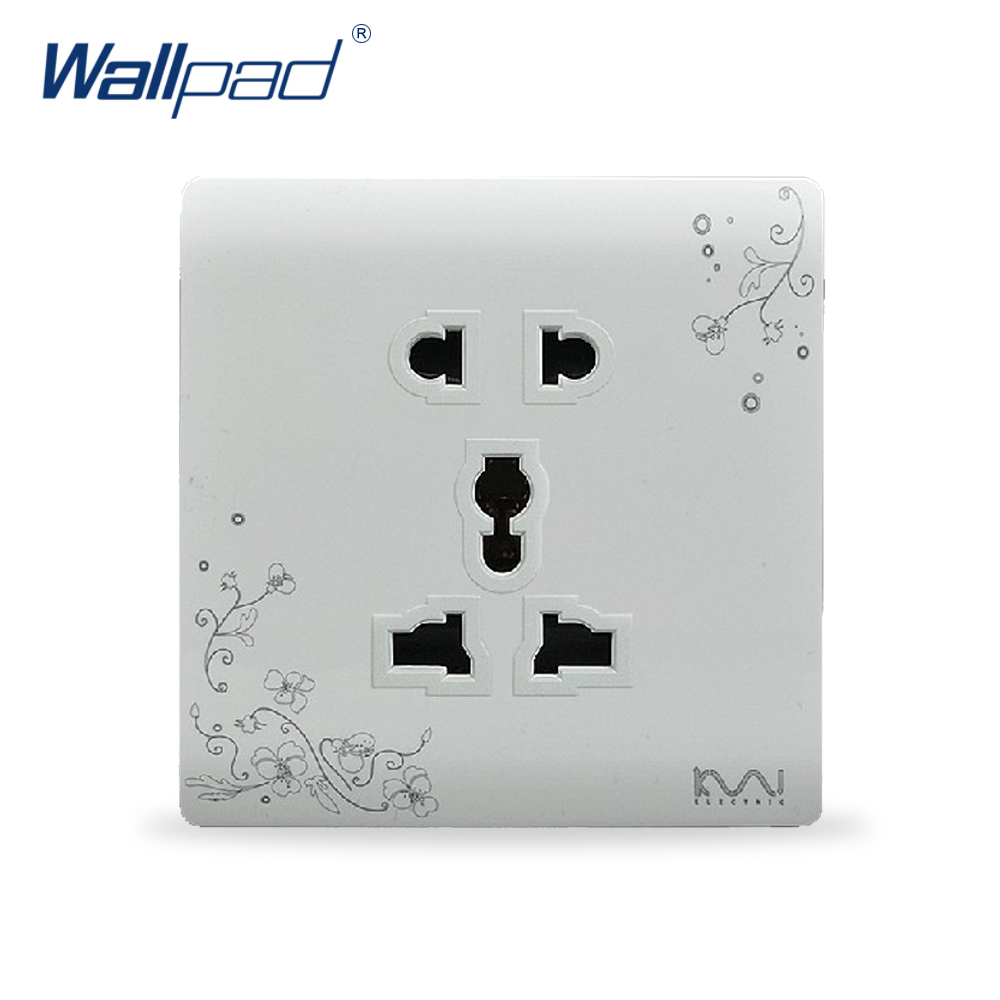 5 Pin Socket Outlet Electric Socket Hot Sale Wallpad Luxury Wall Switch Panel 86*86mm 10A 110~250V 2018 hot sale 6 pin multifunction socket wallpad luxury wall switch panel plug socket 118 72mm 10a 110 250v