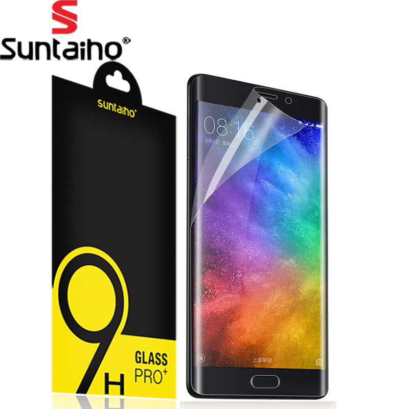 Suntaiho Ultra-thin 3D Curved Full Cover Screen Protector Soft PET For Xiaomi Mi Note 2 Protective Film (Not Tempered glass )