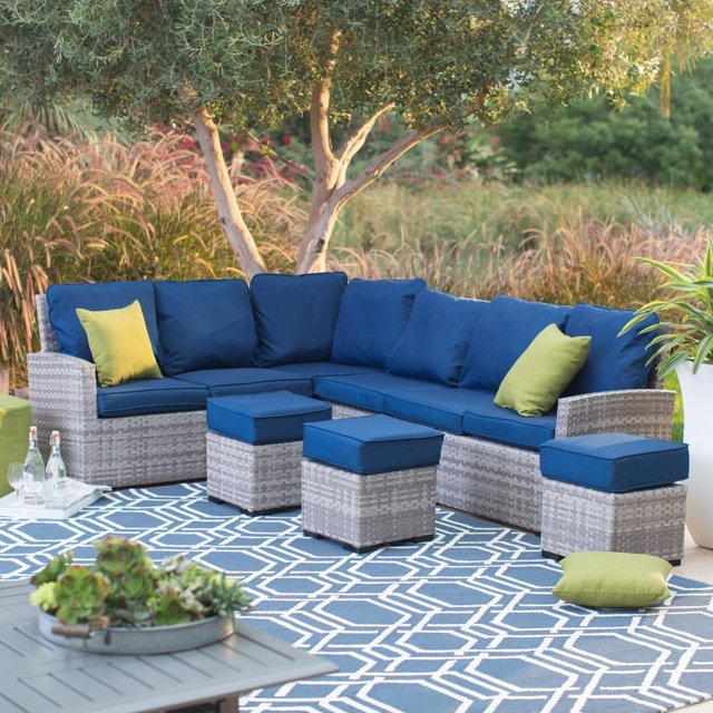 2017 Top Sale Outdoor Furniture Modular Wicker Coner Sofa