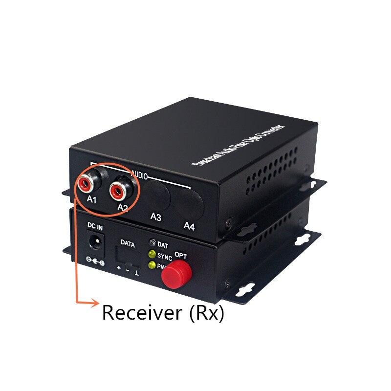Image 3 - Audio Broadcast Fiber Transceiver 2 channel audio optical  converter mode single fiber 20KMfiber transceiversingle mode  fiberfiber single mode
