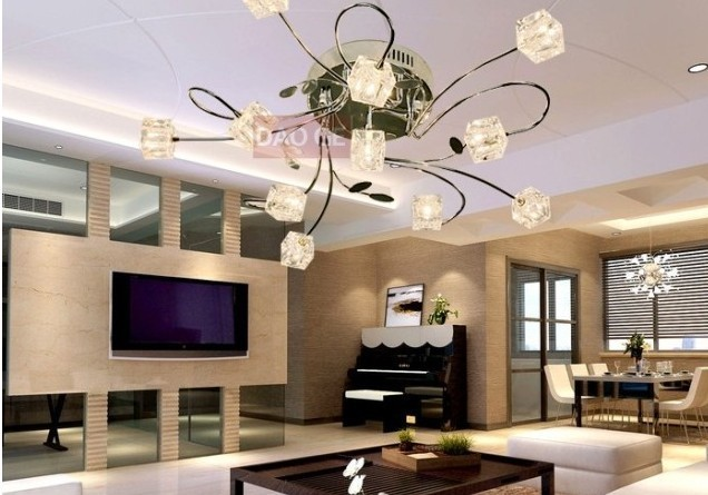 FREE SHIPPING ceiling light with the remote control lamps and lanterns of generation is contracted crystal ceiling light