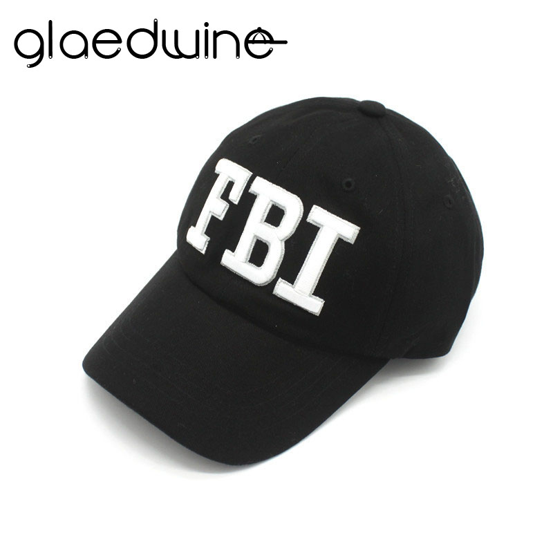 Glaedwine Brand High quality FBI   baseball     caps   adjustable Outdoor Sports Climbing travel snapback hats for men women dad hat