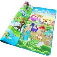 Baby Play Mat 200 180 0 5cm Crawling Mat Double Surface Baby Carpet Giraffe Dinosaur Developing