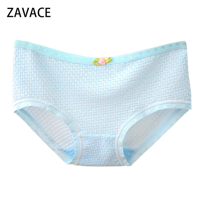 f61d0c29080d ZAVACE Comfortable soft bubble breathable cotton underwear women  candy-colored sexy panties girls panties women's underwear #20