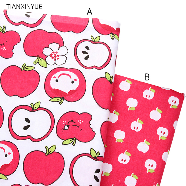 Apple meter fabric 95% Cotton Fabric quilting Baby Cloth Kids bedding patchwork tissue home Textile Sewing friut fabric