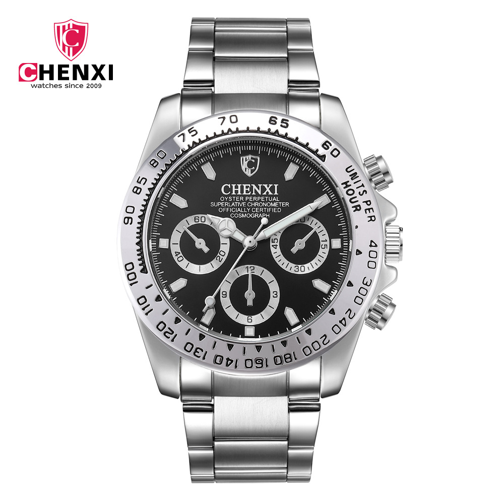 Man Watch 2019 Top Luxury Brand Chenxi Watches Men Sports Watches Waterproof Quartz Stainless Steel Men's Watches erkek kol saat