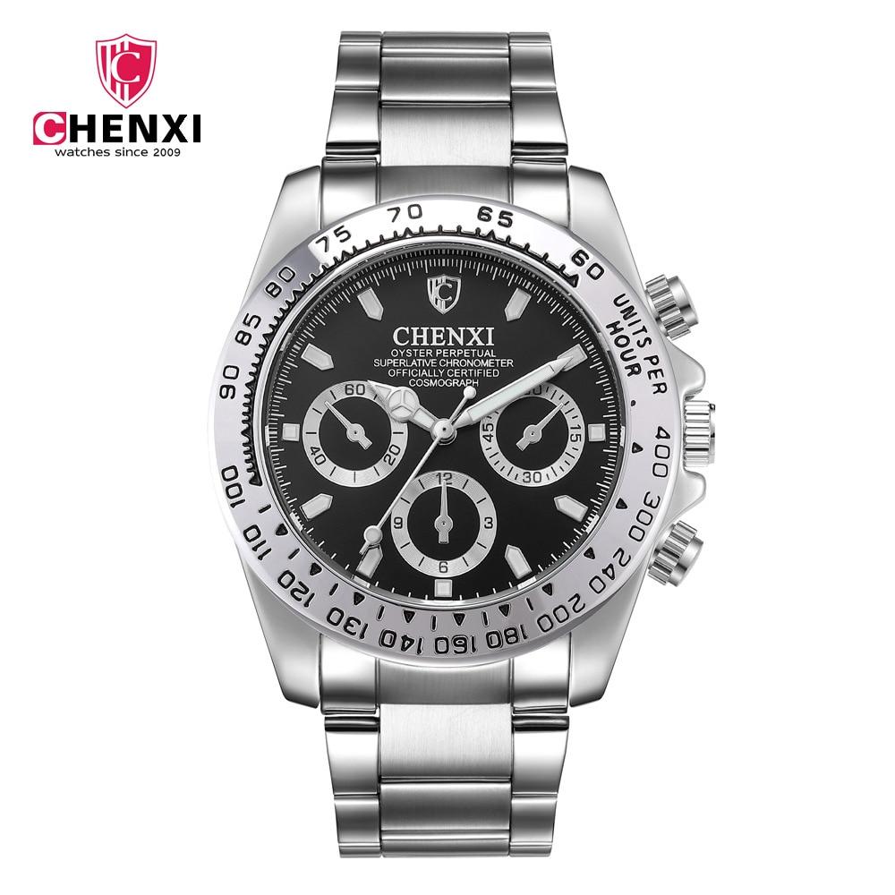 Man Watch 2019 Top Luxury Brand Chenxi Watches Men Sports Watches Waterproof Quartz Stainless Steel Men's Watches erkek kol saat