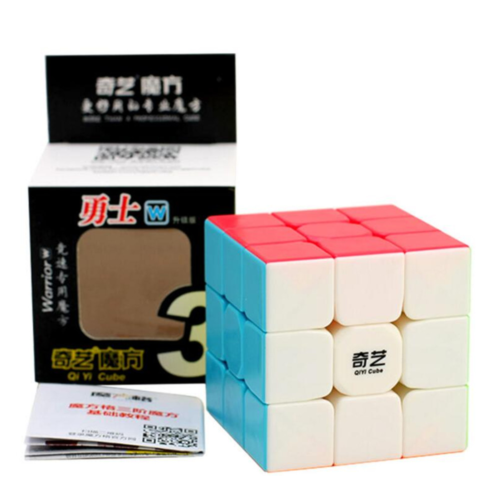 QIYI Warrior W 3x3x3 Magic Cube Solid Color Educational Learning Toys Puzzles Boys Toys Magico Cubo Christmas Gift Puzzle Cube