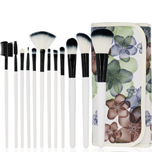 12pcs/set Makeup Brushes Set Make Up Tools Foundation Powder Eyeshadow Eyeliner Lip Blusher Makeup Brushes Set Beauty with Bag 10pcs make up palette set eyeshadow lip gloss foundation powder blusher puff tool