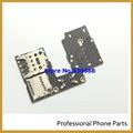 Original para moto g3 g 3ro gen solo sim conector sostenedor de la ranura de lector de tarjetas sd flex cable reparación de piezas de reemplazo