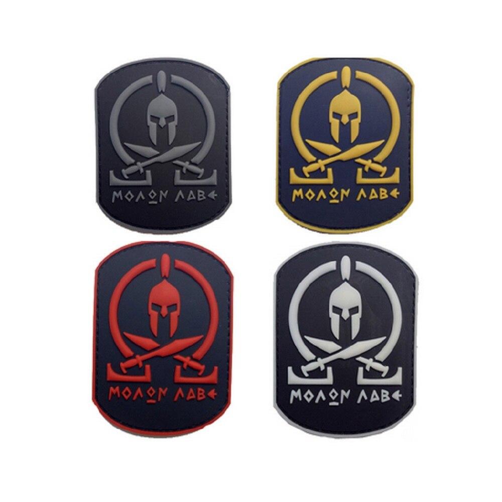 3pcs / lot 3D PVC náramek na jedno použití Náplast Hrdina Sparty Náplast Spartan zbroj náramek Tyranská světelná PVC náplast