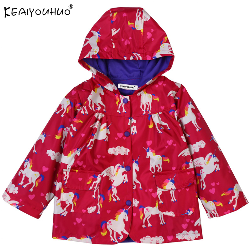 Hooded Jackets For Girls Clothes Waterproof 2018 Spring Autumn Girls Coat Long Sleeve Baby Girl Coat Children Clothing Outerwear