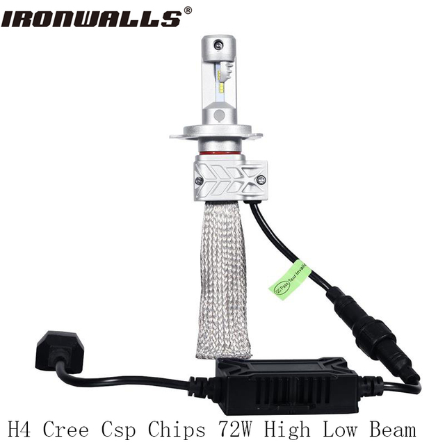Ironwalls H4 H7 H11 H13 9005 9006 Led Car Headlight Cree Csp Chips 72W 8000Lm Led Driving Light For Audi/Bmw/Honda/Toyota/Mazda