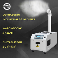 ZS 10Z Commercial Humidifier for Basement Workshop Industrial Ultrasonic Humidifier Atomization Humidification Machine Fogger