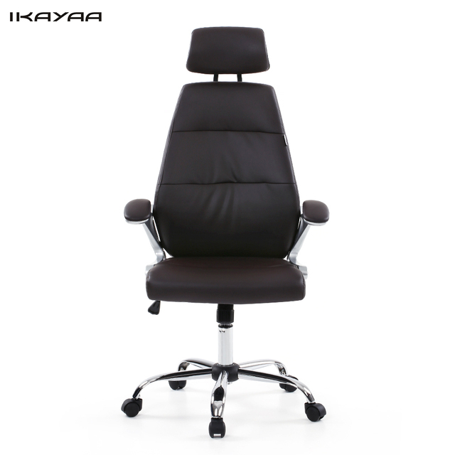 ikayaa us stock faux leather office chair stool high back ergonomic