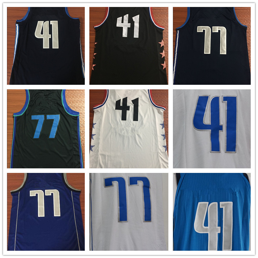 premium selection 6170d 4ca00 Dropshipping Mens Luka Doncic Jersey Dirk Nowitzki Basketball Jersey MAN  Basket Uniforms Stitched Trikots Shirts Wholesale