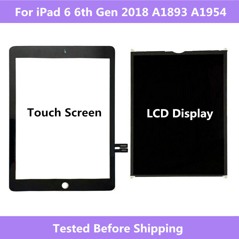 For iPad 6 6th Gen <font><b>2018</b></font> A1893 A1954 Touch Screen Digitizer panel / LCD Display Screen For ipad Pro 9.7 <font><b>2018</b></font> A1893 A1954 image