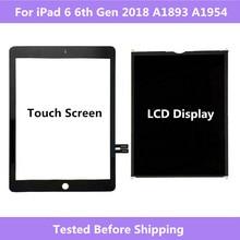 Panel de Digitalizador de pantalla táctil para iPad, 6. ª generación, A1893, A1954, pantalla LCD para ipad Pro 2018, 9,7, A1893, A1954