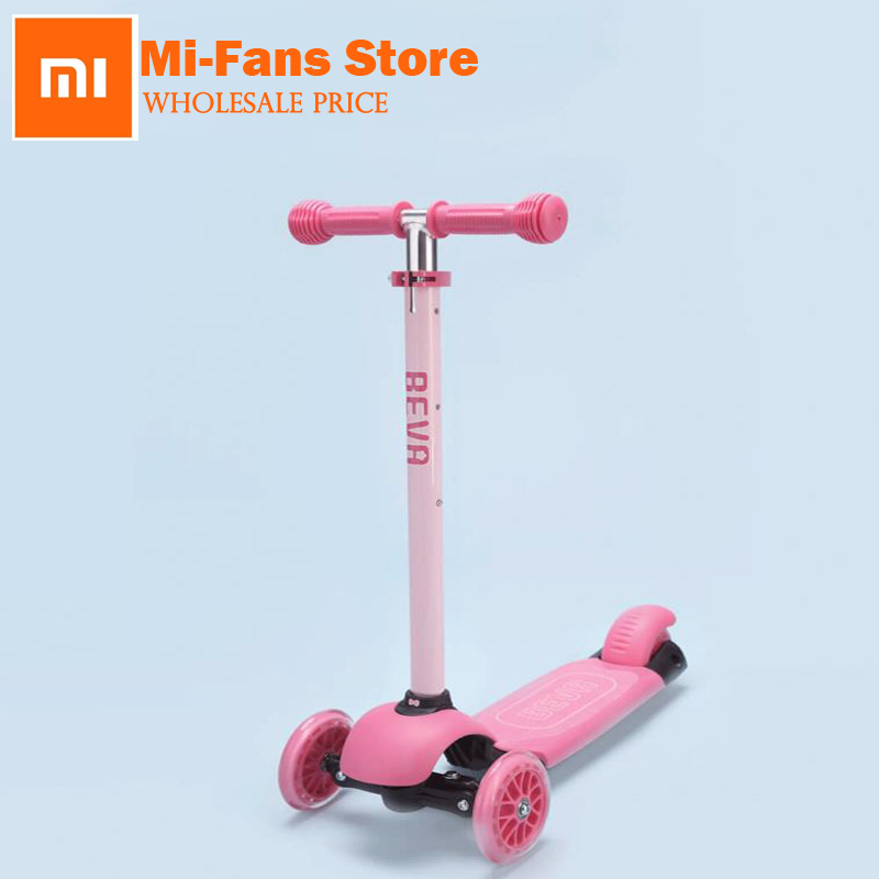 New Arrival xiaomi BEVA Childrens Scooter Four Security Guarantee Anti Slip Easy Control Adjustable Height Scooter Safe Scoote ...