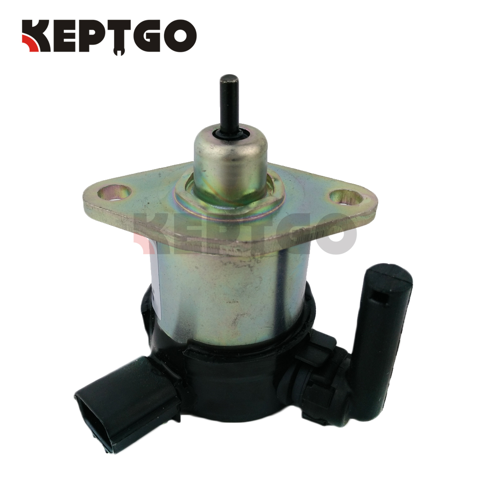 12V Fuel Shut Off Stop Solenoid For Kubota Engine V3300/V3600+/V2203/V1505,1C010-60015,1C010-60017,1C010-60014 fuel shut off solenoid valve coil 3964624 fits excavator engine