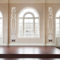Criativo Estilo Retro de Luxo Decorativo 3d Espelho Acrílico Adesivos de Parede Quarto Sala de estar Decoração de Casa Decoração do Quarto Da Porta R201