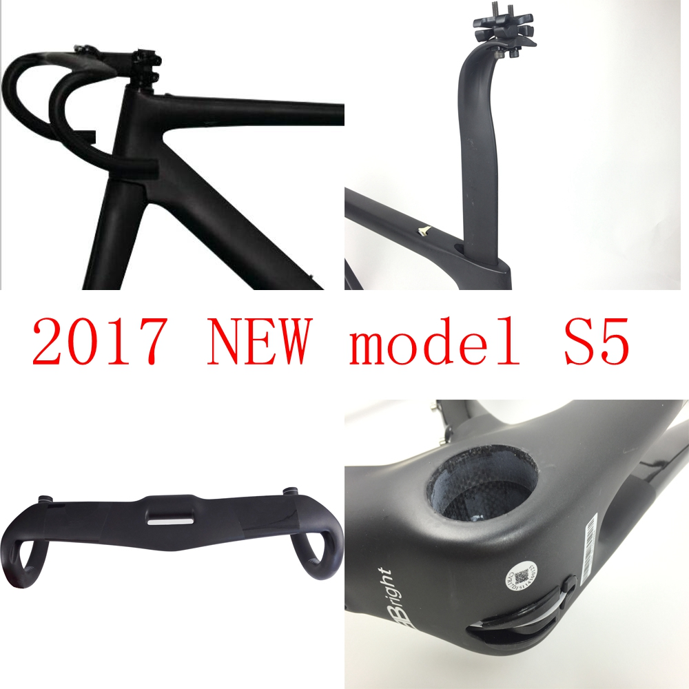 Цена за 2017 новый Аэро дорожный велосипед рама T1000 UD углерода велосипед фреймов + гарнитура + руль + стволовых TXCH тайвань эйзен может быть XDB корабль FMS5