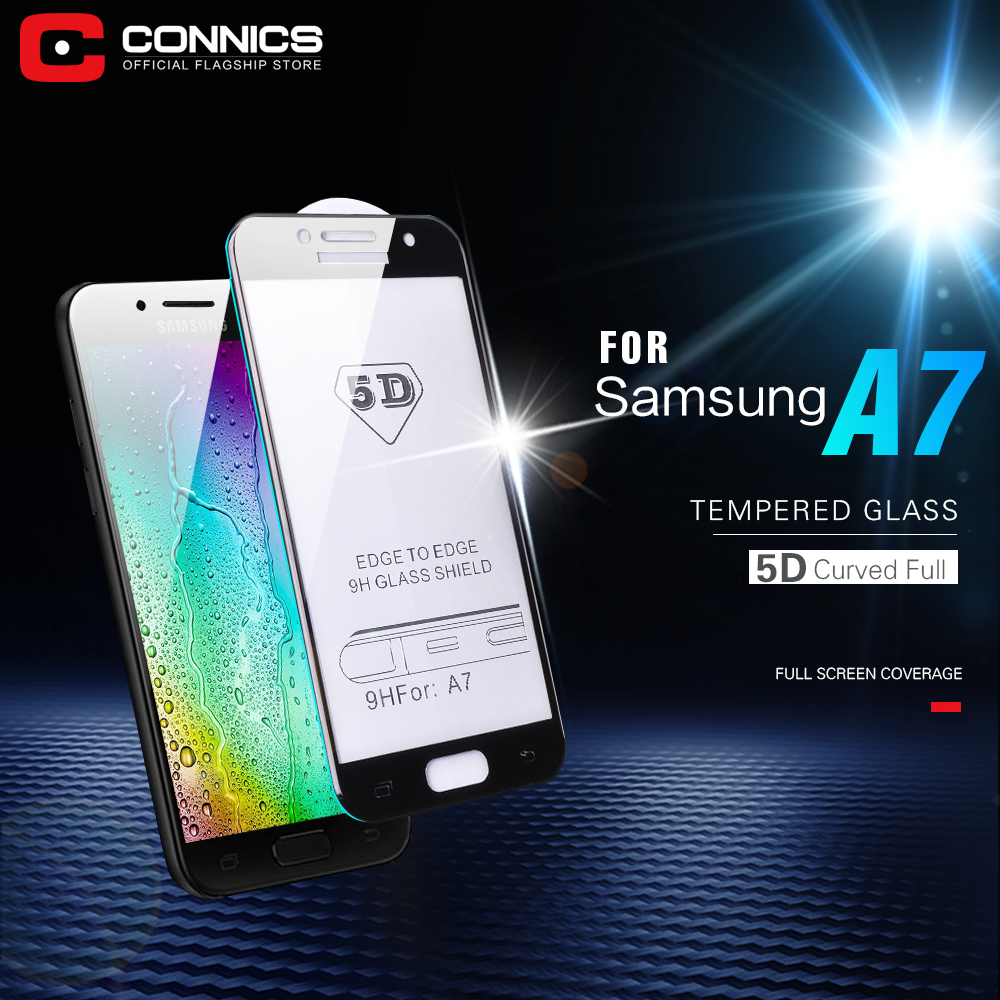 CONNICS 3D Full Cover Screen Protector For Samsung Galaxy A7