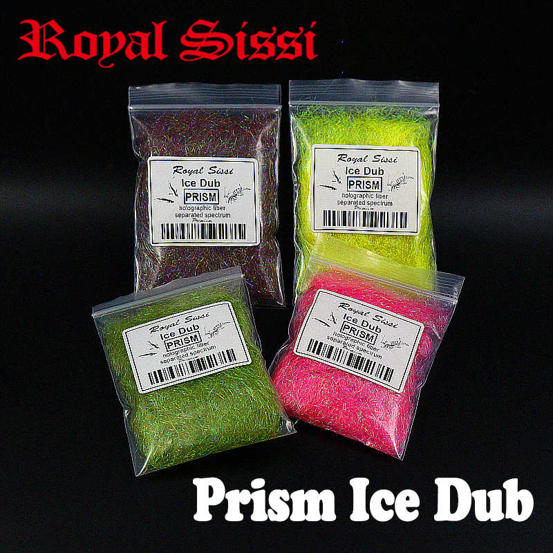 5bags / sett superfin Prism is dub Flybinding Dubbing materiale Syntetisk Sparkle Dubbing Fiber for Nymph Scud laksørreder