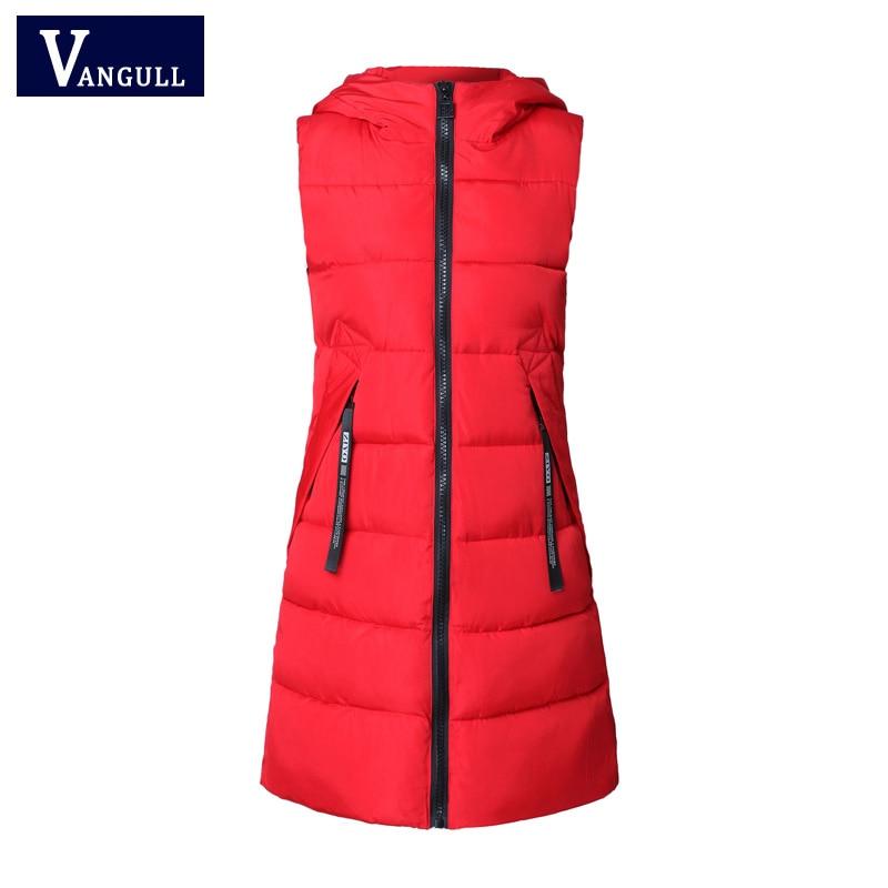 Autumn Winter Women Waistcoat Sleeveless Vest Jacket Hooded Warm Long 4