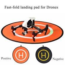 Fast-fold 110 cm pista de aterrizaje Asfaltada Aparcamiento Delantal para DJI CHISPA Mavic pro phantom 4 3 inspire 1 inspire 2 xiaomi Drone Helicóptero