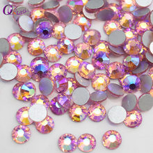 Light rose AB Rhinestones Flat Back Non Hotfix Glitter Art Design Stone,DIY 3d Garment Decorations Supplies,1440pcs/lot Nail Gem(China)