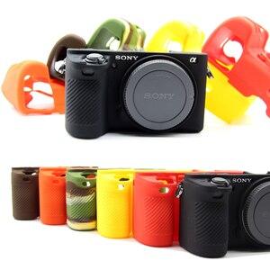 Image 1 - غلاف كاميرا سيليكون ناعم جلد واقي لحقيبة سوني a6500