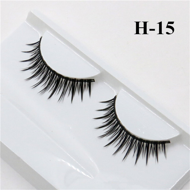 1 Pair False Mink 3D Eyelashes Natural Eyelash Extensions Cruelty Free Mink Lashes Eye Makeup Tools 5