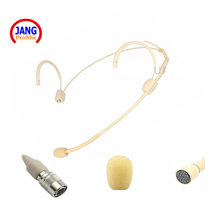 Latest Collection Of Hot Beige Headset Microphone Condenser Wired Show Transmitter Microfone For Shure Wireless Mini Xlr 4pin Microkone Microphones