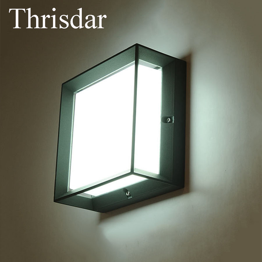 Thrisdar 20W IP65 Waterproof Led Wall Lamps Outdoor Courtyard Fence Villa Garden Patio Porch light Soft Light Wall Light thrisdar 20w ip65 waterproof wall lamps 40leds outdoor garden porch wall sconce lamp corridor garden hotel pathway porch light