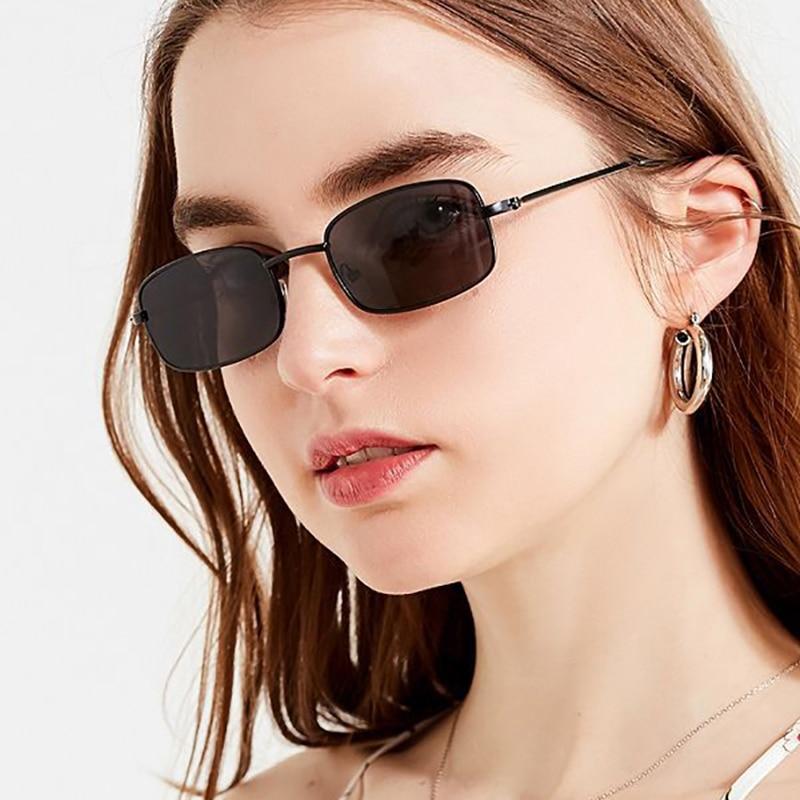 SO&EI Rectangle Sunglasses Women Fashion Clear Ocean Gradient Lens Eyewear Men Sun Glasses Retro Shades UV400 Oculos De Sol