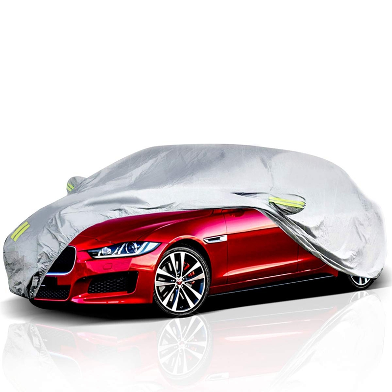 Car Cover Outdoor Sedan Cover Waterproof Windproof All Weather Scratch Resistant Outdoor Uv Protection with Buckle Straps for(China)