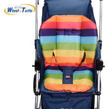 лучшая цена Rainbow Baby Stroller Cushion Seat Pushchair Cart Mat for Baby Carriages Chairs Pram Stroller Accessories