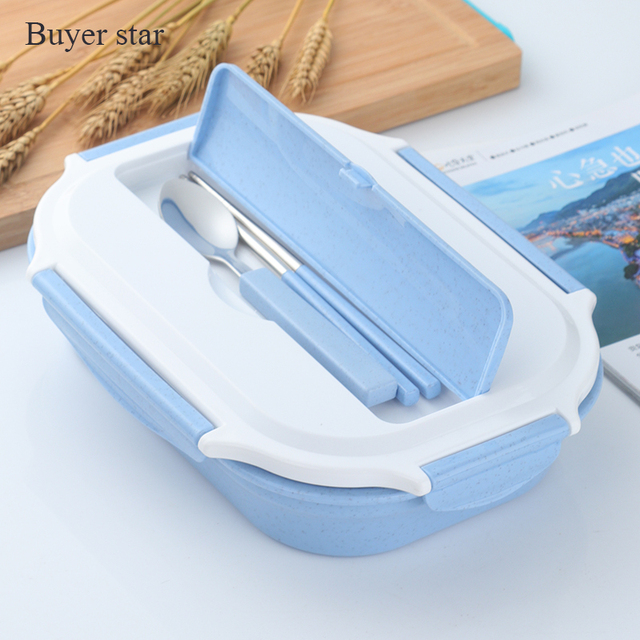 Dinnerware Set Portable Bento Box Lunchbox Food Container with Cutlery Bento Food Storage C&ing Picnic Reusable & Dinnerware Set Portable Bento Box Lunchbox Food Container with ...